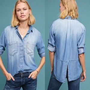 Anthropology Cloth & Stone Chambray Shirt